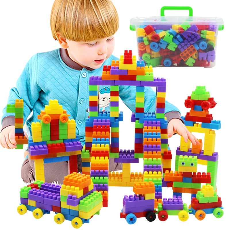 Juguetes Wooden 180 Pcs Children In Large Plastic Assembling Blocks Early Educational Kids Learning Toy Bricks 3-6 Years Old <br><br>Aliexpress