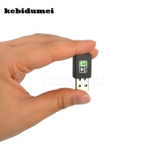 kebidumei Mini 300Mbps Wireless Network Card USB Router wifi Adapter WI-FI Sender Internet for PC Laptop Wifi Signal Receiver(China)