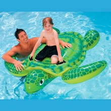 Intex Sea Turtle Ride On Swimming Pool Float Raft Toy Inflatable Beach Toy Gift with Air Pump 500cc(China)