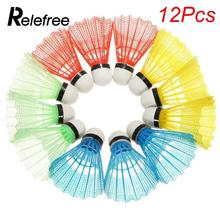 12 Pcs/set Colorful Badminton Shuttlecock Nylon Outdoor Sport Accessories Gym Fitness Balls Plastic Durable(China)