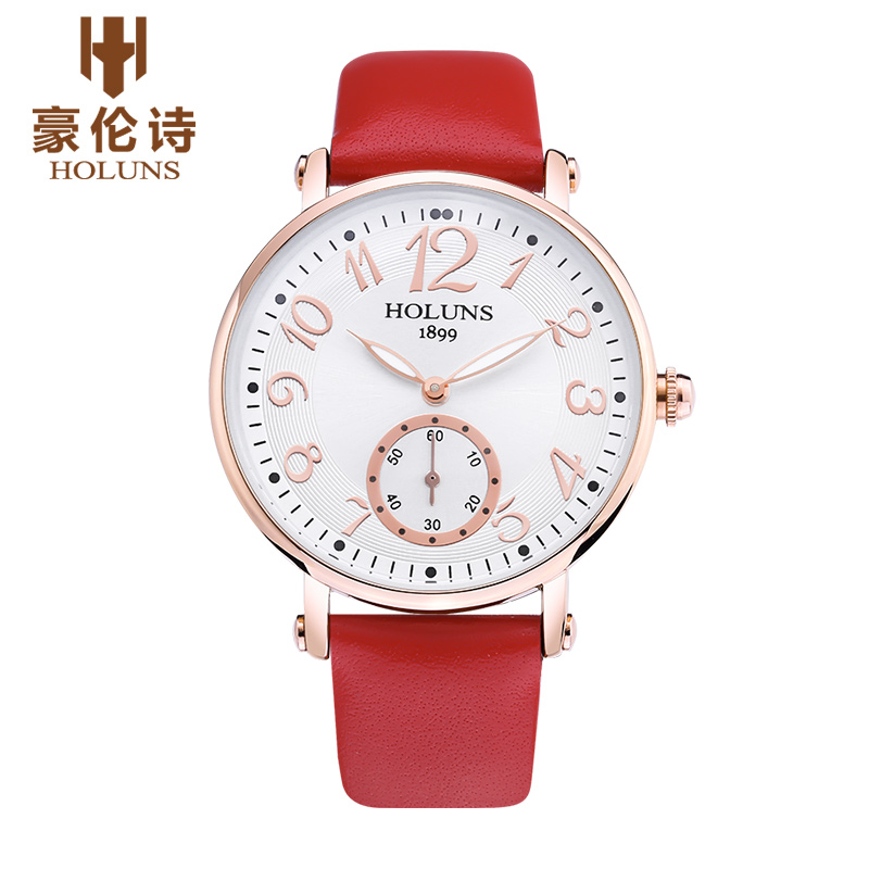 HOLUNS 2017 Fashion Trend Women Watch Sapphire Mirror Luxury Quartz Watch Waterproof Leather Watches For Girl Lady Gift Relojes<br><br>Aliexpress