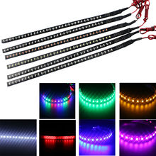 4PCS 30CM 32 LED 3528 1210 Knight Rider Lights Flexible LED Strip Lamps Blue Green Red White Yellow Pink RGB Color Car Decorate