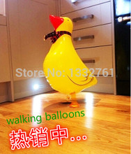 GOOD quality 30pcs/lot walking pet balloon helium ballon walking  Duck balloon