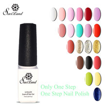 Saviland 3 In 1 UV Gel One Steps High Quality Nail Gel Polish Long Lasting In Nail Art For Gel Dry Quickly(China)