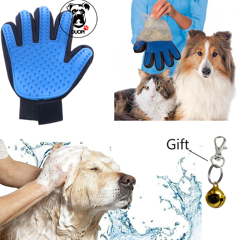 Silicone True Touch Glove Gentle Efficient Pet Grooming Brush Bath Dog Cat Gloves For Removing Hair From Domestic Animals(China (Mainland))