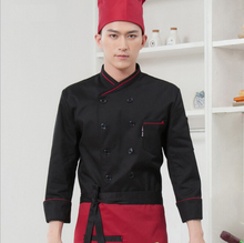 Food Service  Long-sleeved Cooks Kitchen Clothes for Women Men Chef Uniform Hotel Restaurant Staff Uniforms