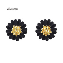 2017 new fashion brand jewelry simple metal stud earrings for women daisy flower gift statement earrings free shipping