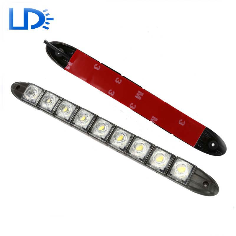 New arrival 2X 12V Universal 9 LEDs Waterproof Flexible DRL Daytime Running Light Car-Styling Warning Lamp high quality<br><br>Aliexpress