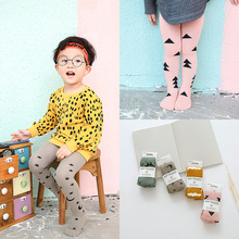 5Pairs/Pack High Quality Autumn Winter Children Stockings Baby Pantyhose Cute Tree Star Stockings Cotton Tights New 2016
