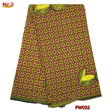 Mr.Z 2017 Embroidered Prints Ankara Wax Fabric African Design Polyester Aso Ebi Wax Materials For Clothes(China)