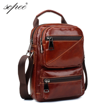 SCPEE Brand Men's Genuine Leather Business Bag Men Shoulder Bags High Quality Male Handbags For Men(China)