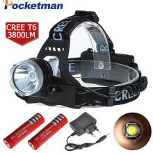 Led Headlamp 3800Lm CREE T6 Head Lamp Light Headlight Flashlight Linterna Fishing Camping Hiking Cycling Headlamp ZK93(China)