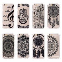 Luxury Phone Case For iPhone 5C Tribe Tribal Floral Paisley Flower Mandala Henna Design Clear Hard PC Phone Covers For iPhone 5C(China)