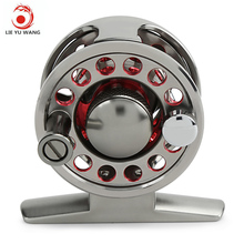 LIE YU WANG 2 + 1BB Aluminum Alloy Fly Fish Reel Wheel for Ice Flying Raft Fishing(China)
