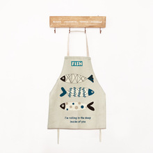 Cooking Apron Funny Novelty Fish BBQ Party Aprons for Women Naked Mens Kitchen Aprons Cooking Avental Delantal Cocina Retro