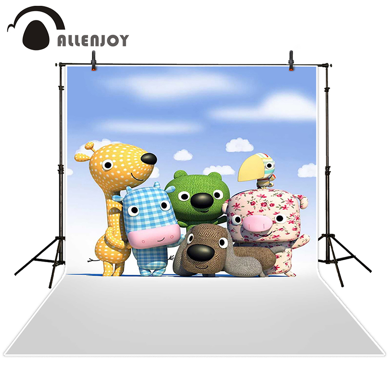 Allenjoy photographic background Dolls Children sky and white clouds backdrops kids christmas summer Excluding bracket 10x20<br><br>Aliexpress