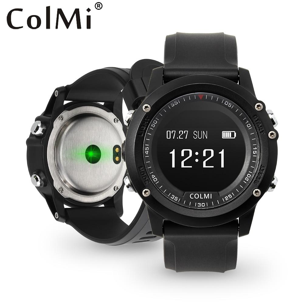 COLMI T2 IP68 Waterproof Heart Rate Monitor Push Message Call Reminder Clock Bluetooth 4.0 Brim Men Sport Smart Watch<br>