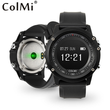Buy COLMI T2 IP68 Waterproof Heart Rate Monitor Push Message Call Reminder Clock Bluetooth 4.0 Brim Men Sport Smart Watch for $33.19 in AliExpress store