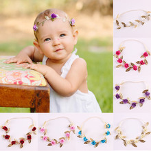 Fashion Hot New Christmas Gift Baby Flower Headband Girls Children Infant Hairband Floral Headwear Hair Accessories Elasticity