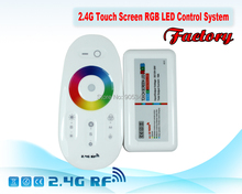 2.4G RGB LED controller Touch pannel LED controller 12V/24V18A Wireless 2.4G Finger touch ring Remote 216Watt for LED RGB Strip