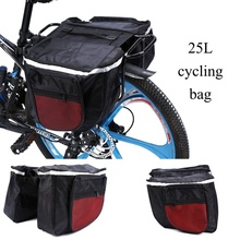 Buy USA 25L 600D Cycling Bicycle Bike Rack Back Rear Seat Tail Carrier Trunk Double Pannier Bag Back Red for $13.32 in AliExpress store
