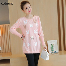 Buy Kobeinc 2017 New Long Sleeve Maternity T-Shirt Spring Autumn Casual Clothes Pregnant Women Cotton Cartoon Pregnancy Tops for $10.91 in AliExpress store
