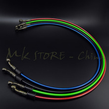 Motorcycle Dirt Bike Braided Steel Hydraulic Reinforce Brake line Clutch Oil Hose Tube 500 To 2400mm Universal Fit Racing