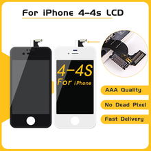 High Quality 30PCS/LOT DHL Shipping For iPhone 4 LCD Screen Replacement For Pantalla iPhone 4 Display with Frame