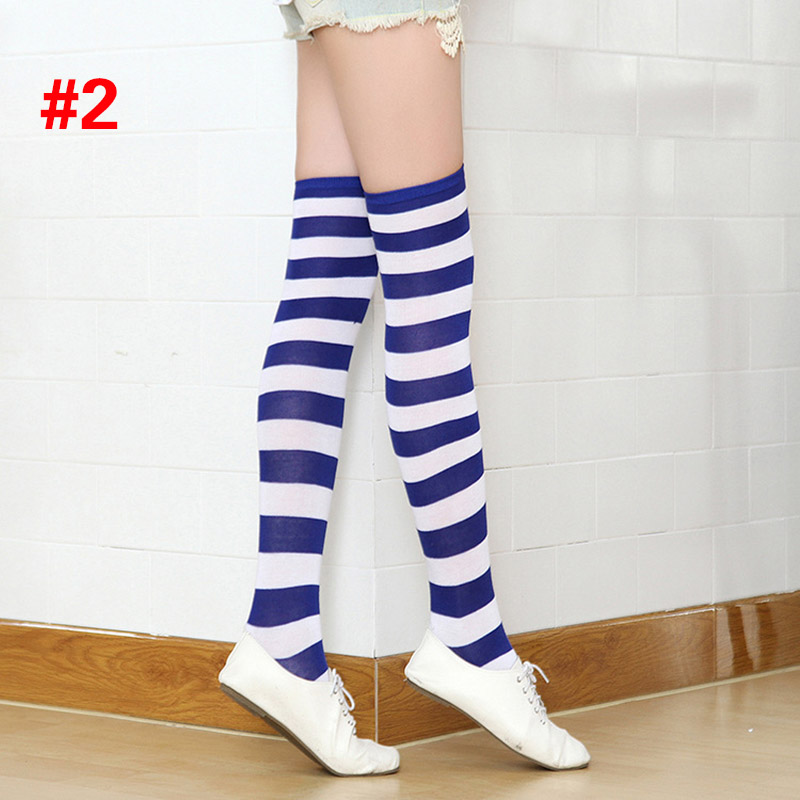 Polyester Fashion Stripe Beauty Tights, Stockings, Multicolor Knee-high Women Sweet Cute Girls Stockings 9