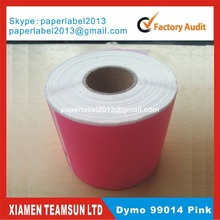200 x Rolls Dymo Compatible Labels 99014 pink colors also sell Orange yellow Green custom colors mailing sticker shipping labels