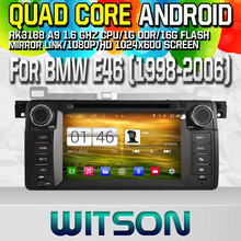 WITSON Quad-Core Android 4.4 CAR DVD Player for BMW E46 CAPACITIVE Screen Navi GPS Radio bluetooth 3G Wifi mirror link