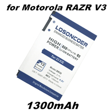 LOSONCOER 1300mAh High capacity BR50 for Motorola RAZR V3c V3 V3E V3m V3T V3Z V3i V3IM PEBL U6 Prolife 300 500 Battery(China)