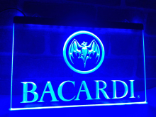 LA023- Bacardi Banner Flag   LED Neon Light Sign  home decor  crafts