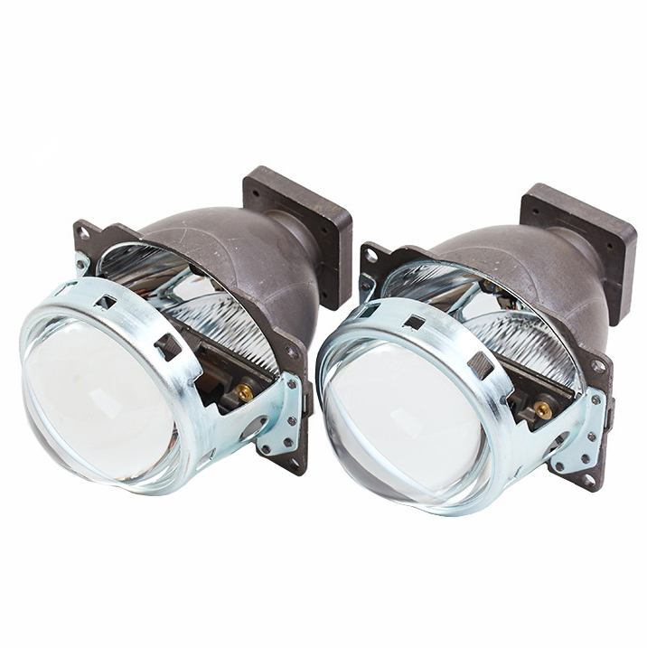 1 pair New Product HID Bi- Xenon Lens Square Q5 Projector Lens For H4 Car Headlight Suitable for D2S/D2H Xenon Bulb(China)