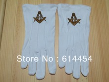 Masonic Gloves Mason Freedom Customized Made Embroidery(China)