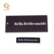 custom logo clothing woven labels and paper price tags, 1000 sets,Brand name logo Bags/shoes garment label and tag for clothes