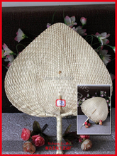 Hot Selling Heart -shaped Pu Fan High Quality Cool Bamboo Hand Fan Fit In Summer Chinese Traditional Craft