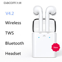 Dacom original TWS wireless Bluetooth Earbuds for Apple iPhone 7 plus Headset Double Twins airpods Earphones For Android