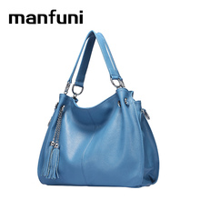 MANFUNI 2017 Casual Handbags women Genuine Leather Bag Large capacity iPad crossbody bags for women Ladies handbag Totes 0217(China)