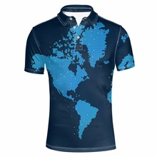 FORUDESIGNS Men's World Map Printed Tommy Camisa Polo Shirt Male Summer Short Sleeve Party Colorful Tee Fashion polo Fit Tops