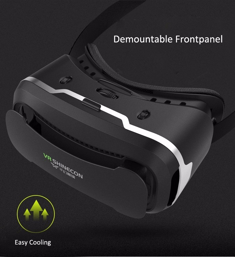 VR Shinecon 2.0 Google Cardboard VR BOX 2.0 Virtual Reality goggles VR 3D Glasses Immersive for 4.5-6.0 inch smartphones 34