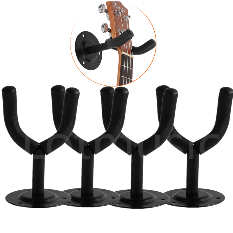 Kmise Guitar Hook Hanger Holder Wall Mount Stand Rack for Bass Acoustic Electric Guitar Parts Accessories Black Padded<br>