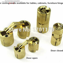 Free shipping 16mm 14mm 12mm 10mm 8mm Brass bucket hinge folding table folding hinge furniture hardware accessories