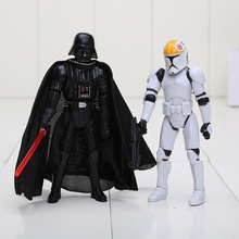 Free Shipping 10cm Star Wars Darth Vader Clone Troopers PVC Action Figure Doll Star Wars PVC Toys