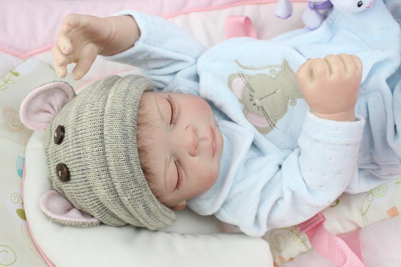 2015 New silicone reborn baby doll toys girls brinquedos play house toy lifelike newborn boy girl sleeping babies<br><br>Aliexpress