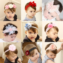 31 COLORS 2017 New Fashion Baby Girls Lace Flower Headband Hairbands Kids Hair Accessories Kids Children Girls Headwear Bandage