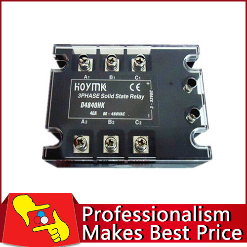 Free shipping 40A 3 Phase SSR3 D4840HK solid state relay electronic switch<br>
