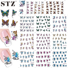 STZ HOTSALE LARGE 1sets 11designs BLE1390-1400 Women Butterfly Sticker Decals NAIL WATER STICKER DECAL DIY Polish Tools