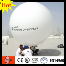 dia 3m PVC inflatable zeppelin helium balloon for outdoor advertising ball 0.2mm PVC(China)