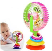 Candice guo plastic toy Sassy colorful baby developmental wonder windmill wheel multi-touch inspire senses Rattles Mobiles 1pc